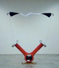 Zwei Schirme (Installation im Palais de Tokyo, Paris, Dezember 2009-Januar 2010), 2010