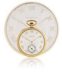TOUCHON  YELLOW GOLD OPENFACE KEYLESS LEVER POCKET WATCH