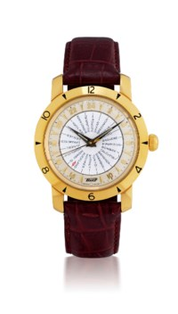 TISSOT, WORLD TIME  YELLOW GOLD AND STAINLESS STEEL AUTOMATIC WORLD TIME WRISTWATCH, LIMITED EDITION OF 2200
