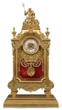 A LARGE FRENCH ORMOLU MANTEL CLOCK