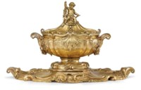 A MONUMENTAL FRENCH SILVER-GILT SOUP-TUREEN, COVER AND STAND