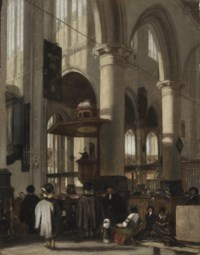 Interior of the Oude Kerk in Delft