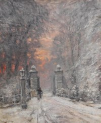 By the gate in winter