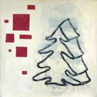 Abstraktes Bild mit Baum (Abstract Painting with Tree)