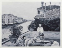 A Holiday in Venice - At the Balcony of Ms. Guggenheim