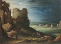 Capriccio of the Via Appia Antica, near Rome, with the Tomb of Cecilia Metella and the Claudian Aqueduct