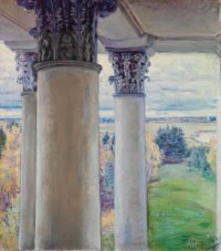 From a window of the old house, Vvedenskoe