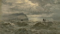 Shipping off a rocky coast