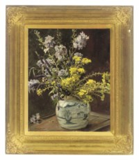 Summer flowers in a Chinese vase