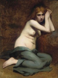 A sorrowful maiden