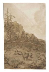 Sheep on a mountainside