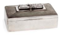 A CANADIAN SILVER CIGAR BOX
