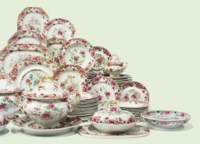 A SPODE IRONSTONE CHINA PART DINNER-SERVICE