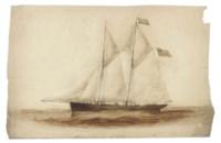Study of the topsail schooner Telegraph