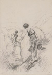 Moorland Scene - sketch for Kodak