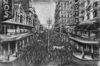 """Drawing from """"Stereoscope (Street Procession)"""""""