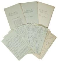 """CARCO, Francis (1886-1958). Les Innocents. Roman de la guerre. Manuscrit autographe complet, non signé, daté """"secteur 45. Le 5 novembre 1915""""."""
