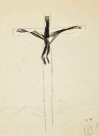 MICHAUX, Henri (1899-1984). Quatre cents hommes en croix. [Saint-Maurice d'Ételan: Pierre Bettencourt] 1956.