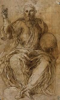Salvator Mundi (recto); Etude de figures (verso)