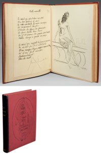 MAN RAY (1890-1976). Les Mains libres. Dessins illustrés par les poèmes de Paul Éluard. Paris: Jeanne Bucher, 1937. In-4 (277 x 220 mm). 66 dessins de Man Ray reproduits.