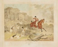 A Southerly wind and a cloudy sky ; The fox chase, par Charles Hunt