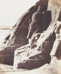 Nubie, Abousembil, Speos de Phré Colosse meridional vu de profil, c. 1851-1852