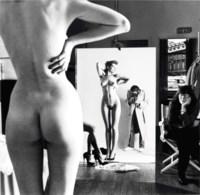 Self-Portrait with Wife and Models, 'Vogue' Studios, Paris, 1980