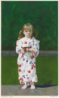 Liberty Blake in a Kimono