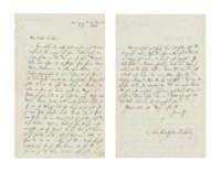 MENDELSSOHN BARTHOLDY, Felix (1809-1847). Autograph letter signed ('Felix Mendelssohn Bartholdy') to [Jenny Lind], Leipzig, 25 January 1846, two pages, 8vo, bifolium (a few nicks, traces of mount on integral blank). Provenance: collection of Dr Edward J. Keffer (d.1937), Philadelphia; Walter R. Benjamin Autographs, New York, 1952.