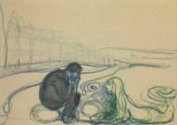 Melancholy Man and Mermaid (Encounter on the Beach)