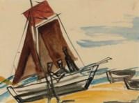 Segelboot am Strand (Sailing Boat on the Beach)
