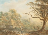 A woodcutter returning from a day's work (illustrated); and A woodcutter's family at dusk
