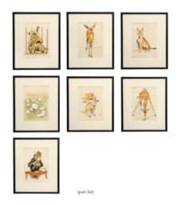 A set of twenty-two animal prints, Zoo Babies