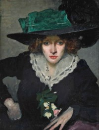 Sarah in a Large Hat (the artist's sister)