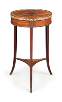 A VICTORIAN ROSEWOOD AND IVORY INLAID OCCASIONAL TABLE