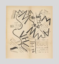 MARINETTI, Filippo Tommaso (1876-1944). Les mots en liberté futuristes. Milan: Poesia, 1919. 8° (195 x 130mm). Unopened. 4 folding plates. (Margins lightly yellowed.) Original wrappers printed in red and black (spine evenly browned, spine foot chipped, some spotting along the edges); custom-made paper-covered clamshell case.