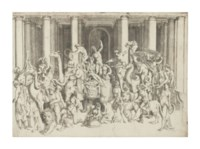 Bacchus and Ariadne on a Triumphal Chariot (Bartsch 32)