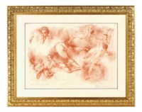 XVIIIth Century Nudes after Boucher and Fragonard