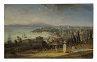 A view of the Sarayburnu, Constantinople, from Galata