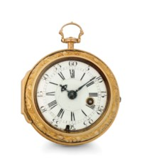 Bigss. An 18k Gold Consular-Cased Keywound Verge Watch with Bloodstone Bowl