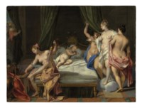 Venus and the Three Graces tending to Cupid