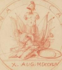 Projet pour une médaille célébrant la Prise de Furnes le 10 juillet 1744
