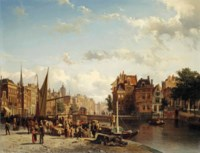 View of the Rokin in Amsterdam