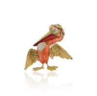 AN ENAMEL AND DIAMOND-SET NOVELTY BROOCH, BY FRASCAROLO