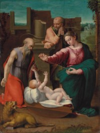 The Holy Family with Saint Jerome