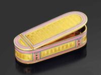 A LOUIS XVI ENAMELLED GOLD SNUFF-BOX