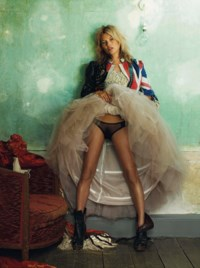 Kate Moss, for British Vogue, October 2008