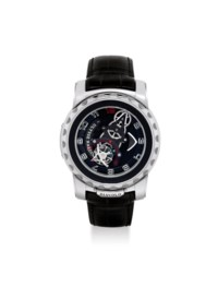 ULYSSE NARDIN. A FINE, RARE AND LARGE 18K WHITE GOLD TOURBILLON WRISTWATCH WITH 8 DAYS POWER RESERVE AND SILICIUM ESCAPEMENT