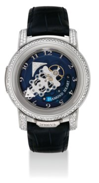 ULYSSE NARDIN. A VERY FINE AND RARE PLATINUM AND DIAMOND-SET LIMITED EDITION CARROUSEL TOURBILLON WRISTWATCH WITH DUAL DIRECT ESCAPEMENT AND 7 DAY POWER RESERVE