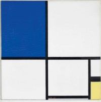 Composition No. II with Blue and Yellow